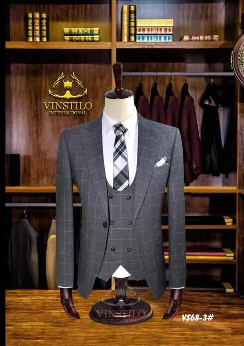 2019 New Latest Coat Pant Designs men wedding suits best man suit Groom Tuxedos Groomsmen set Party Dinner jacket pant vest