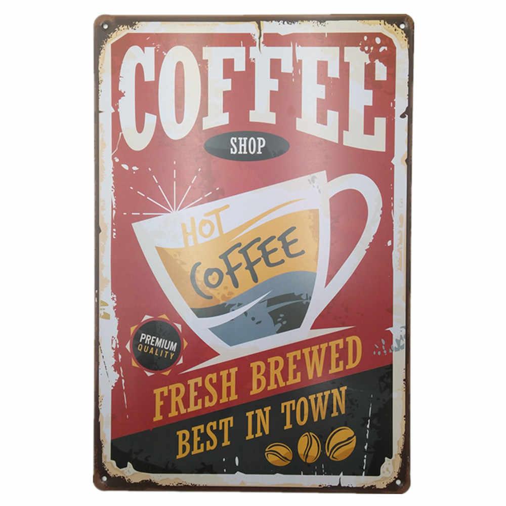 Vintage Metal tabela Poster plak Bar Pub kulübü Cafe ev plaka duvar dekor sanatı ev dekor restoran kahve Cafe duvar plakları