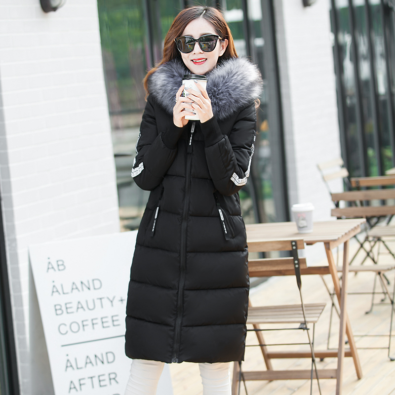 fashion letters long down womens quilted female korean winter jackets for wellensteyn celebrity fur hooded parka coat miegofce