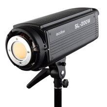 Godox SL-200W CRI 93 + LED Vidéo Lumière Éclairage Continu 16 Canaux 5600 K Blanc 200 W + Télécommande + réflecteur