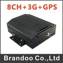 8 Channel Train DVR With 3G/GPS Function For Ship Mobile Airplane