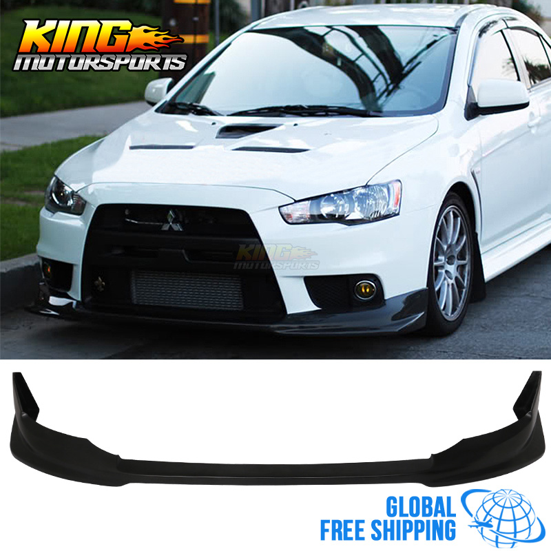 For 08-15 Mitsubishi Lancer Evolution X VR Style Front Bumper Lip Global Free Shipping Worldwide цены онлайн