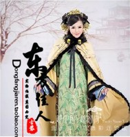 Meng Xue Yi Mei Snow Dream with Plum Blossom Beauty Women Qing Dynasty Empress Costume Ancient Chinese Costume Exhibition Design