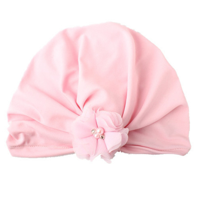 2017 Soft Floral Printing Knot Sleeve Cap Indian Flower Hat Girls Beanie Toddler Infant Kids Caps Lovely Bonnet Accessories