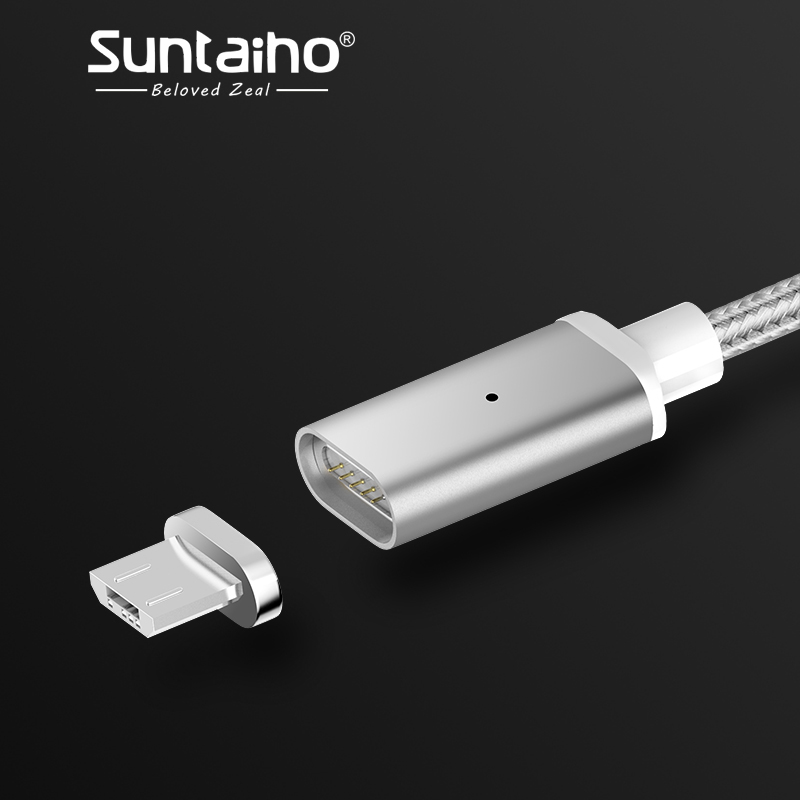 Suntaiho Magnetic Charger Cable Micro USB Cable for Xiaomi Samsung Android Phone Micro-USB Fast Charger Adapter magnetic Cable