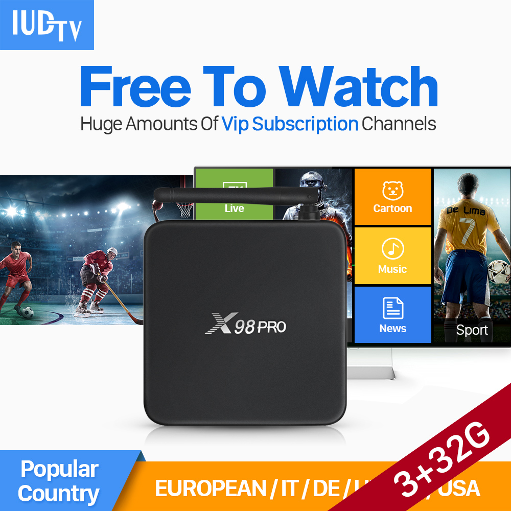 Smart Android IPTV Set Top Box S912 Octa Core 3G+32G STB with IPTV Subscription 1 Year 1900+ HD Live Abaric IPTV Europe Channels