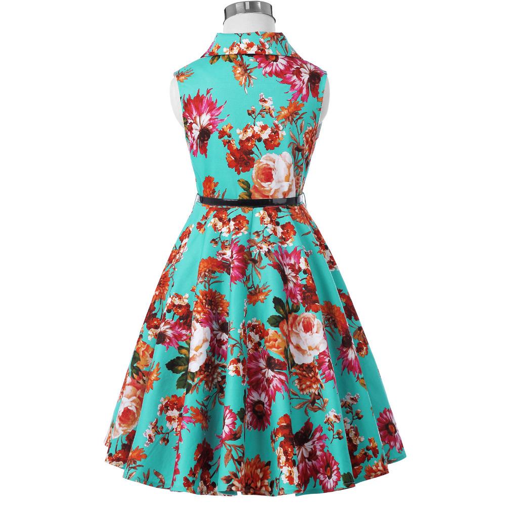 Grace Karin Flower Girl Dresses for Weddings 2017 Sleeveless Polka Dots Printed Vintage Pin Up Style Children's Clothing 37
