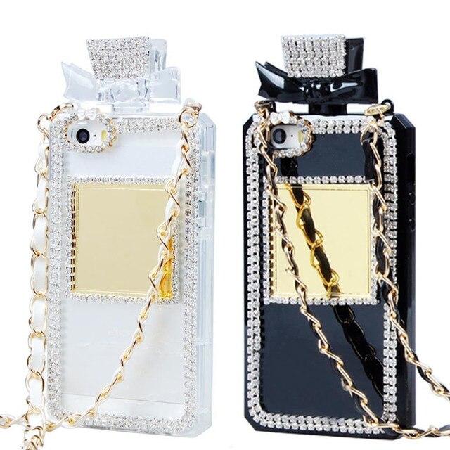 Botella de Perfume de diseño 3D hecho a mano chispa brillante diamante tpu suave funda de teléfono para iphone 6 s iphone 6 plus 6 7 8 plus x XS Max Samsung S9