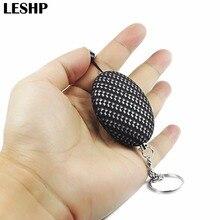 120dB alarm Keychain Self-Defense Personal Portable Security Alarm Ellipse Anti-Attack Emergency Alarm Keyring For Women Kid