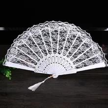 Fans Ornament Hand-Fan Dance-Accessories Lace Wedding-Decor Folding Wholesale Personalized