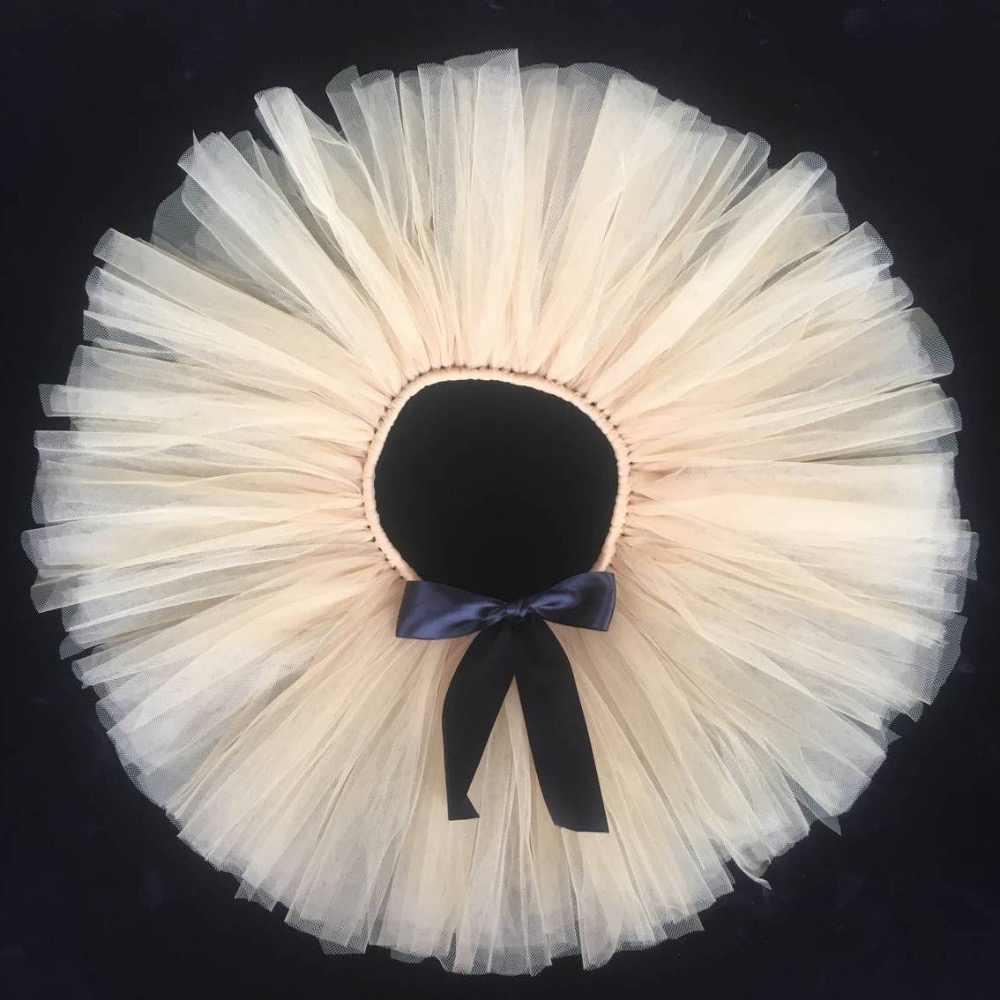חמוד בנות בז 'ריקוד טוטו חצאיות בייבי Pettiskirt טול רך ילדים מסיבת יום הולדת חצאית טוטו עם סרט סאטן שחור מותאם אישית חצאיות טוטו