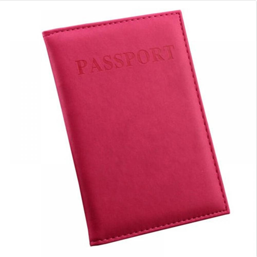 ISKYBOB Travel Utility Simple Passport ID Card Cover Holder Protector Skin Leather New