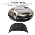 Carbon Fiber Auto Car front Bonnet hood Cover for Volkswagen VW Golf 7 VII MK7 Hatchback GTI / R 2014-2017 Car Styling