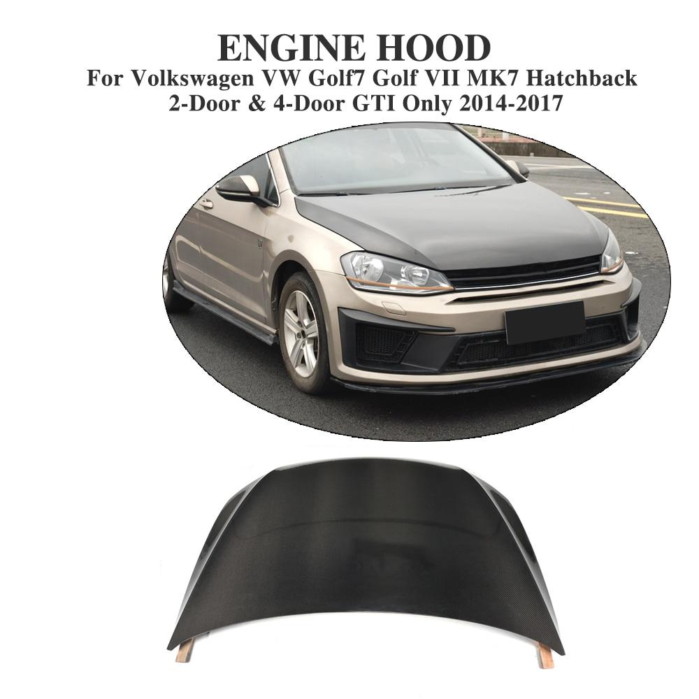 цена на Carbon Fiber Auto Car front Bonnet hood Cover for Volkswagen VW Golf 7 VII MK7 Hatchback GTI / R 2014-2017 Car Styling