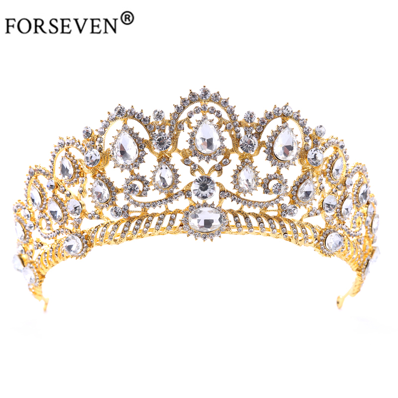Luxurious Crystal Vintage Peacock Bridal Hair Accessories For Wedding Quinceanera Tiara Crown Pageant Diamante Tiara