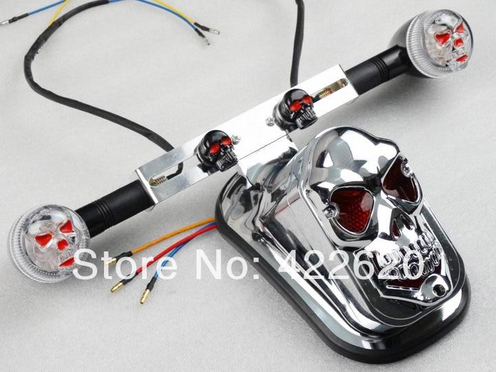 Motorcycle Chrome Rear Fender Custom Diy 3d Skull Skeleton