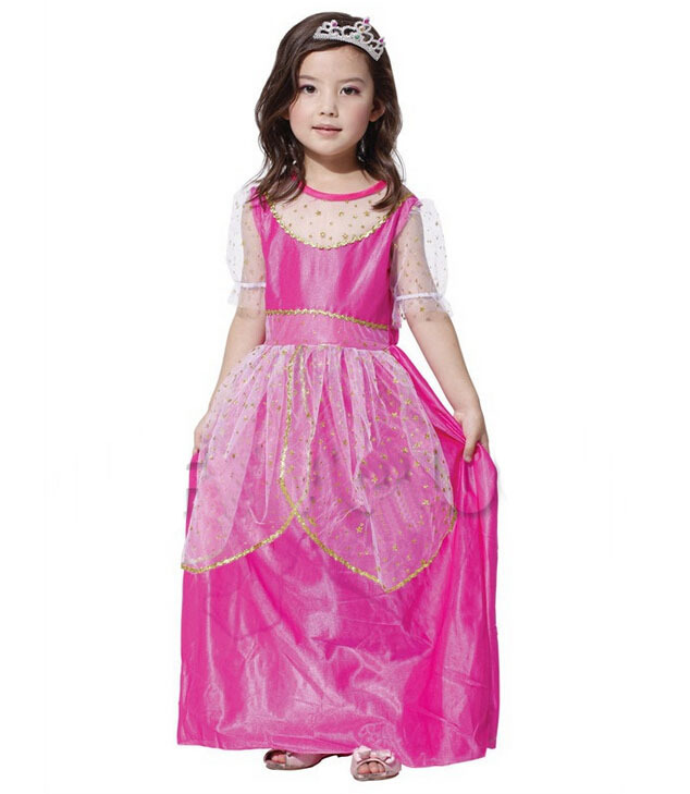Gentle Christmas Costume Party, All Saints Carnival Party, Game Performance Clothing, Pink Peach Dress Terrific Value