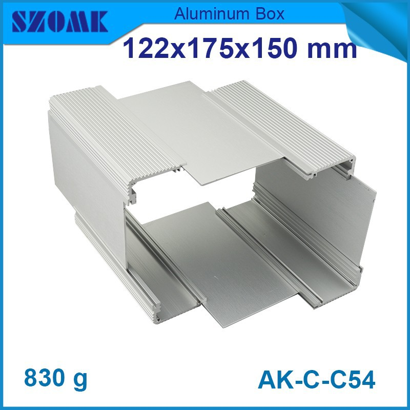 10 pcs/lot aluminium pcb enclosure extruded aluminum box 122(H)x175(W)x150(L) mmaluminum enclosure amplifier diy electronic box 250 73 5 250 mm w h l electronic diy aluminum project box extruded diecast aluminum junction box for electronic pcb