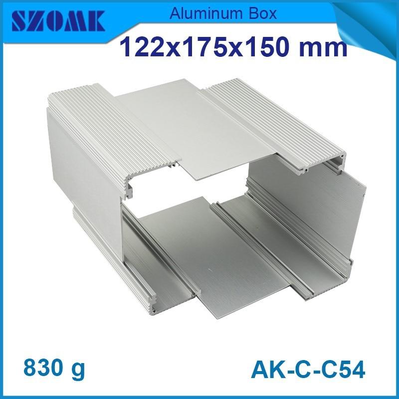 10 Stks/partij Aluminium Pcb Behuizing Geëxtrudeerd Aluminium Doos 122 (H) X175 (W) X150 (L) Mmaluminum Behuizing Versterker Diy Elektronische Box