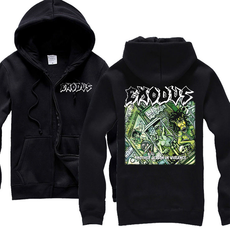 15 kinds Horrible Exodus sudadera Rock Cotton hoodies Shell jacket punk hardrock tracksuit heavy metal Sweatshirt brand clothing