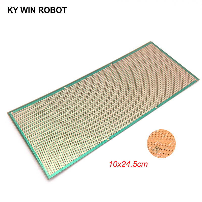 1pcs DIY 10x24.5 10*24.5CM Prototype Paper PCB Universal Experiment Matrix Circuit Board Single Row Continuous Hole 100x245mm