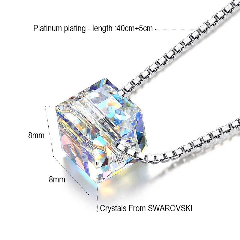 5a15578cf879 MALANDA cristal de Swarovski cuadrado cuentas colgantes collares ...