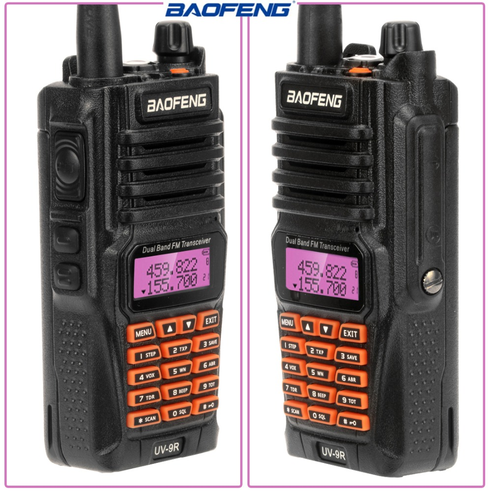 2pcs Baofeng UV-9R IP67 5W Waterproof Walkie Talkie 10km Amateur Radio Dual Band UV9R Portable Two Way CB Radio Communicator