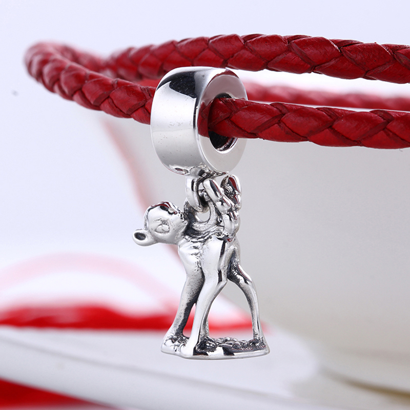 High Quality 100% 925 Sterling Silver Charms Fit Original Pandora Bracelet Bambi Pendant DIY Charms Beads for Jewelry Making