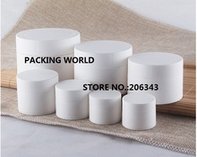 5G blanco esmerilado de plástico tarro de crema para los ojos/crema muestra/essence/nail art maceta de plástico cosmético embalaje
