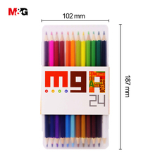 M&G 2018 official creative two head 24 colored pencil set of school kid drawing office stationery art supply professional
