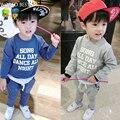 Boys Clothing Sets Autumn Boys Sport Suit Long-Sleeve Letter Sweatshirt+Pants Children Clothing Baby Girls Clothes Set 2015