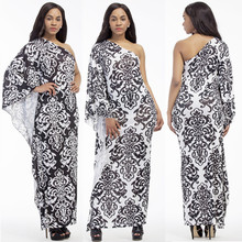 Summer Thailand Hot New Fashion Personality Bohemian Style Shoulder Plus Size Fat MM Dress