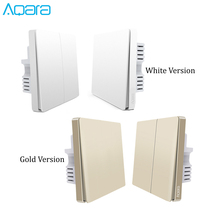 2019 New Arrival Mijia Aqara Switch Wall Device Smart Light Remote Control Single Fire/Zero Line ZigBee For Xiaomi Mi Home Gold