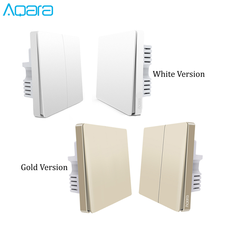 Original Aqara Switch Wall Device Smart Light Switch Remote Control Single Fire/Zero Line ZigBee For Xiaomi Mijia Mi Home Gold