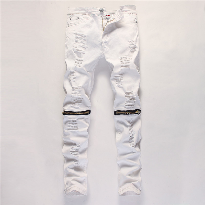 Popular Mens White Ripped Jeans-Buy Cheap Mens White Ripped Jeans
