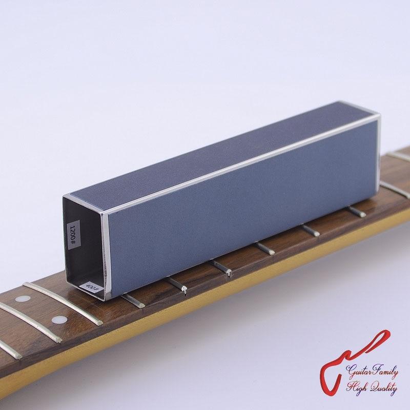 купить GuitarFamily Guitar Bass Fret Leveling Files With Self-adhesive Sandpaper 400# 600# 1000# 1200# по цене 271.99 рублей
