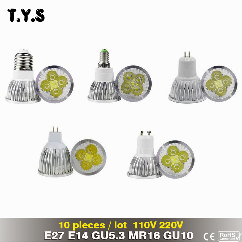 10pcs Bombillas Led mini spot light bulb E14 E27 MR16 GU5.3 GU10 12V 110V220V Lampada Led 3W 4W 5W High power Spotlight led lamp