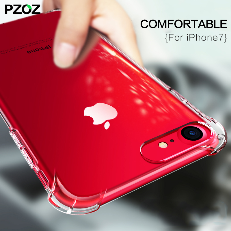 PZOZ For iPhone 7 8 Plus Case Bumper Luxury Accessories Silicone 360 Shockproof Cover For Apple iPhone 7Plus 8Plus Phone Housing
