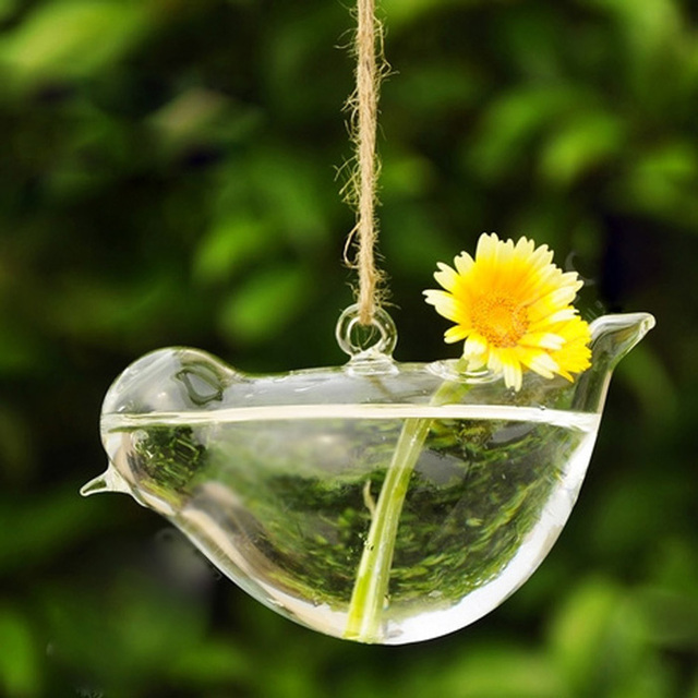 creative hanging bird shape glass plant flower vase hydroponic container home office wedding tree decor buy shape home office