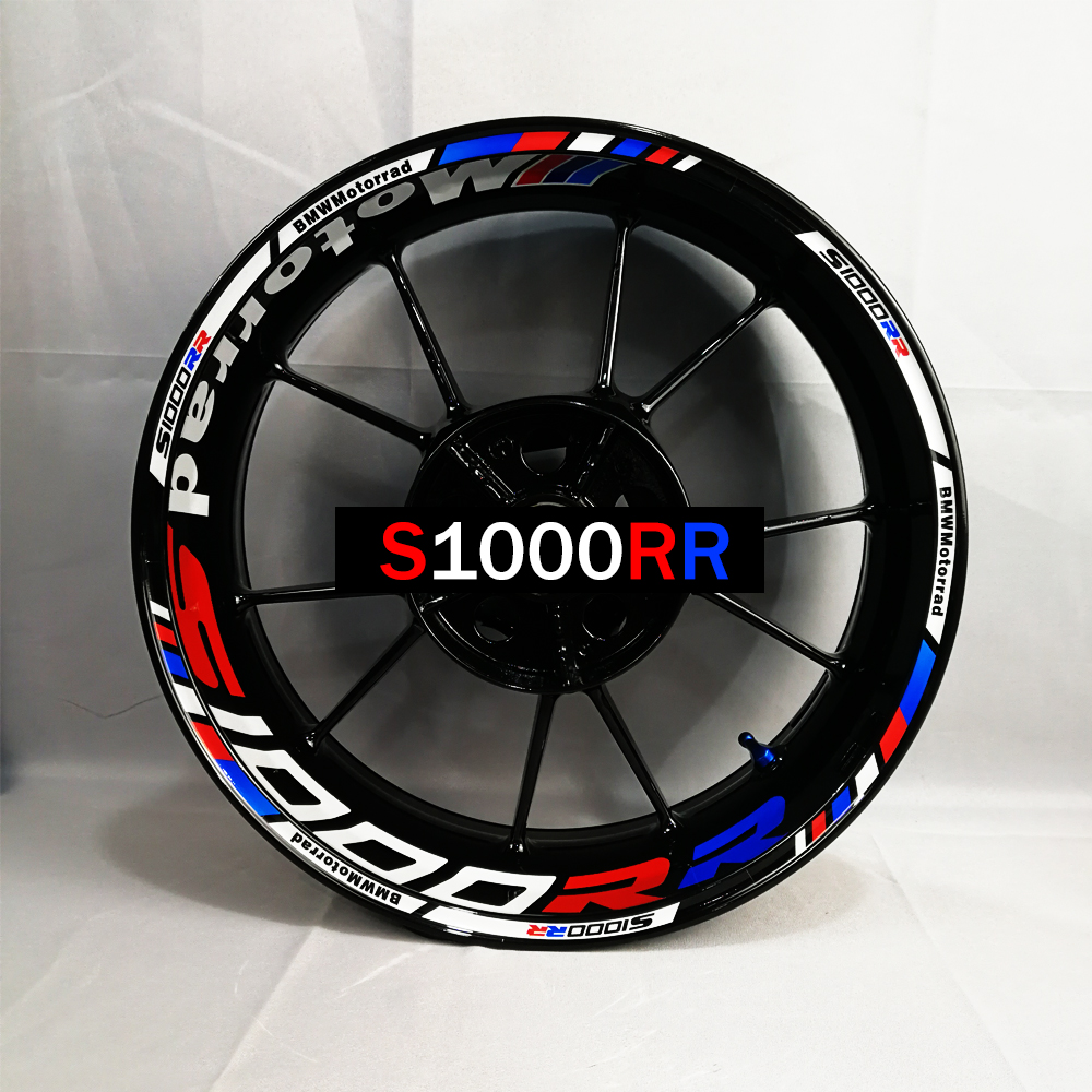 Used For Customizing Inner Rim Of BMW 1000RR Motorcycle Before And After Refitting Wheel Sticker, Waterproof And Reflective Rim