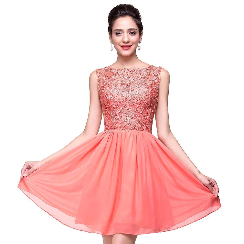 2017 precio barato un line encaje blusa falda de tul rojo vestido ...