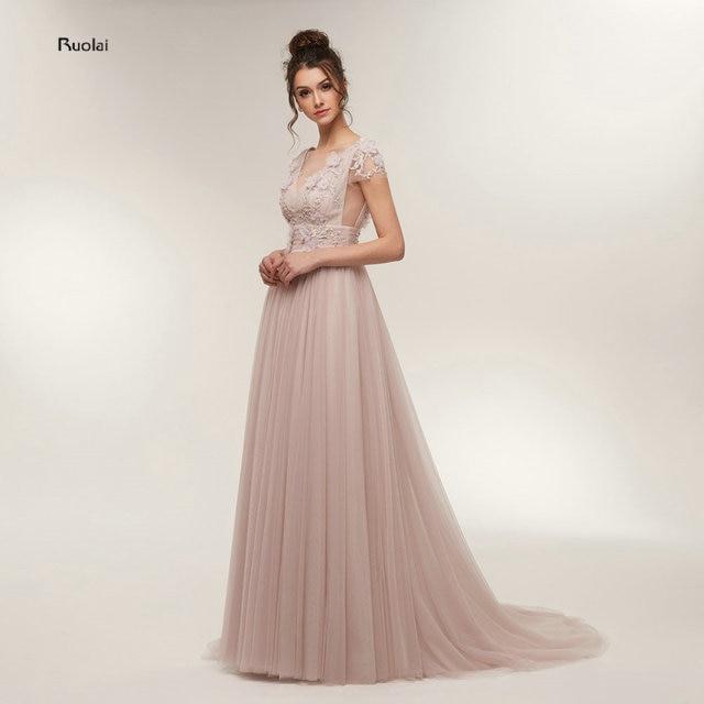 Elegant Evening Dress Long 2018 V Neck Cap Sleeves Evening Gown For Women Formal Dress Prom Party Dress vestido de festa