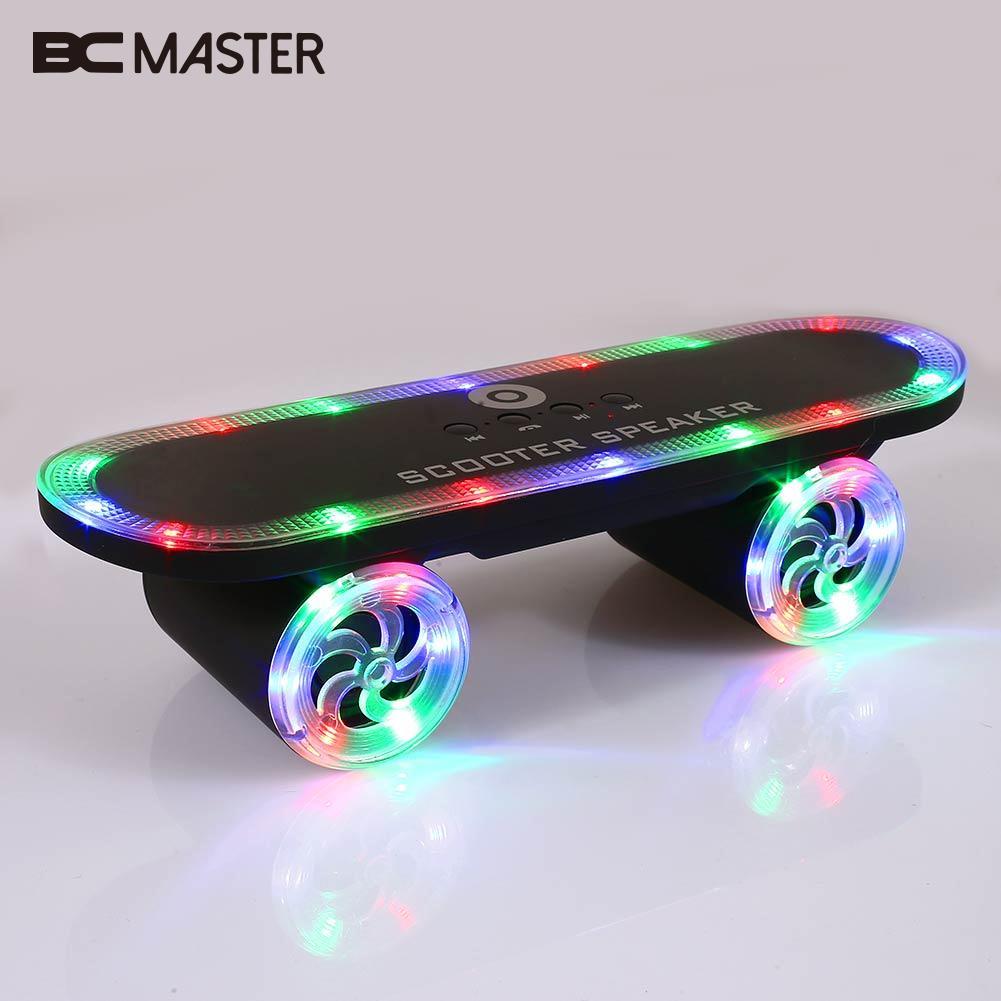 Durable Skateboard  Bluetooth Speakers Wireless Bluetooth Speaker Bluetooth Subwoofer Boombox Music Radio Skateboard Scooter