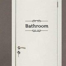 bathroom shower room toilet door decor Sign stickers,free ship
