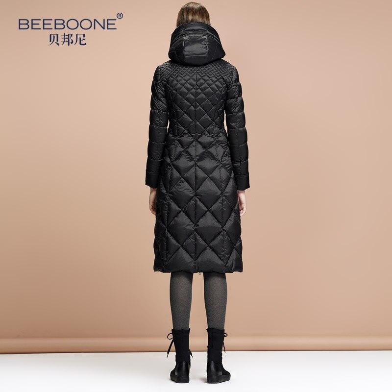 Beeboone Herbst und Winter schlank mit einer Kapuze über dem Knie - Damenbekleidung - Foto 4