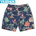 Board shorts men swimming trunks sexy print flowers mens swimwear beach surfing gym running short  joggers bermudas masculina