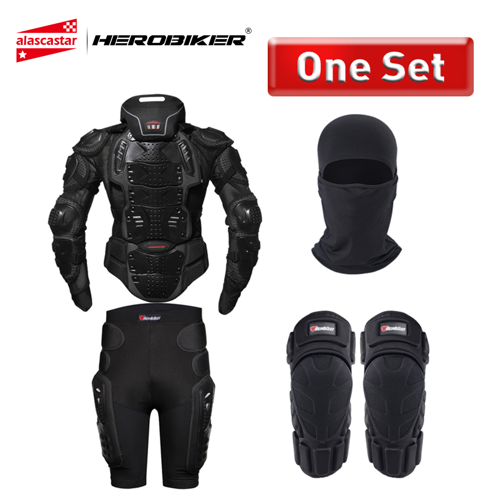 HEROBIKER Motorcycle Armor Protection Full Body protection Protective Gear Moto Jacket Motorcycle Jackets With Neck Protector