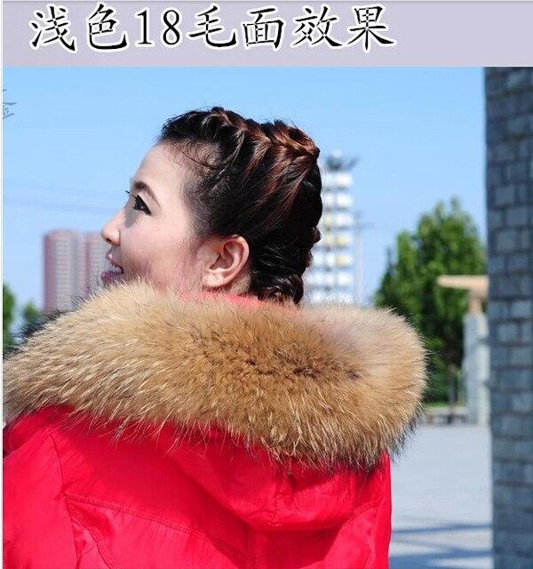 70 centimeters 18 centimeters широкий енот мех воротник женщина енот мех шарф волос естественная мех