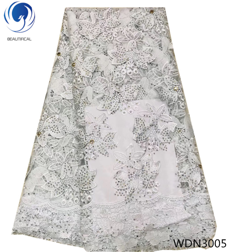 Beautifical french net lace fabrics african lace fabrics with rhinestones guipure lace Embroidered for women 5yards/lot WDN30Beautifical french net lace fabrics african lace fabrics with rhinestones guipure lace Embroidered for women 5yards/lot WDN30