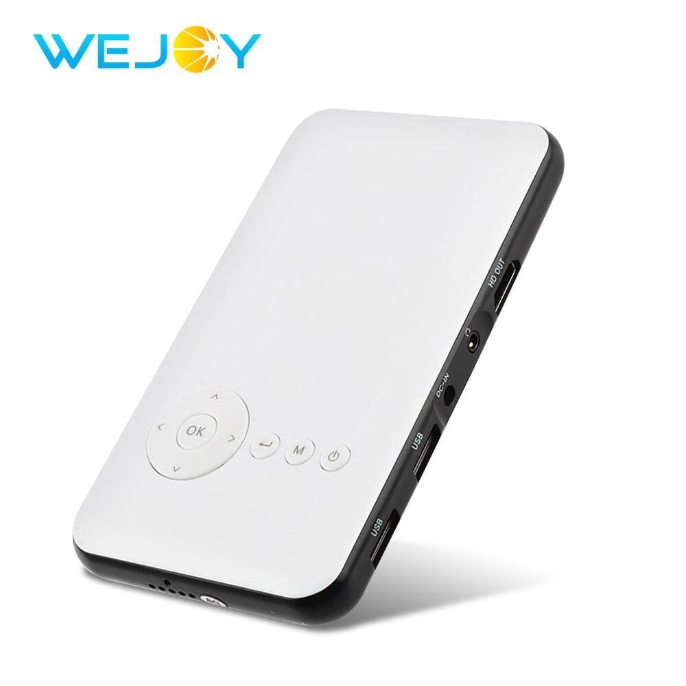 Wejoy Mini projecteur DL-S6 8G Smart projecteur à LED Portable DLP HDMIOUT Portable Home cinéma Android Pico poche Mobile Projetor